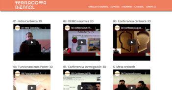 Página web de Terracotta Bienal de La Bisbal