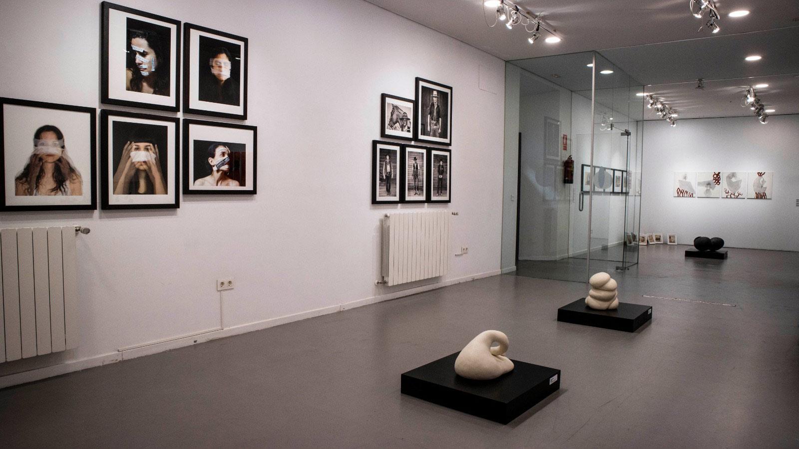 Vista de la exposición en el Palacio Quintanal