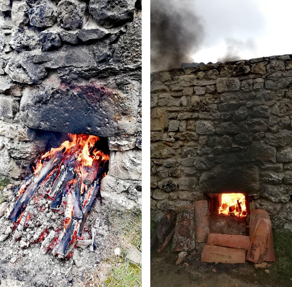 Cocción en horno de leña en Abioncillo, Soria