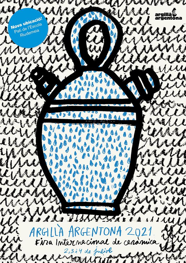 Cartel de la feria de cerámica Argillà Argentona 2021