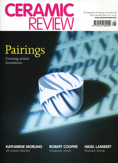 portada de revista Ceramic Review