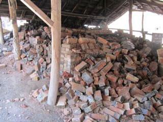 Horno de sal de Shoji Hamada después del terremoto